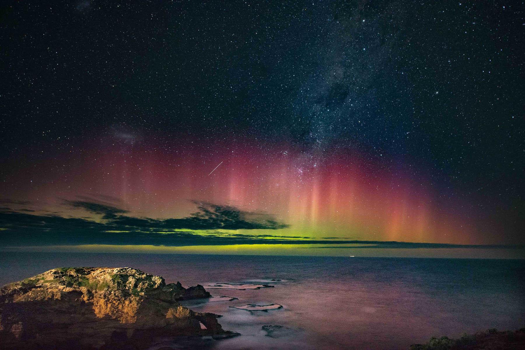 Полярное сияние на горизонте. Австралия.