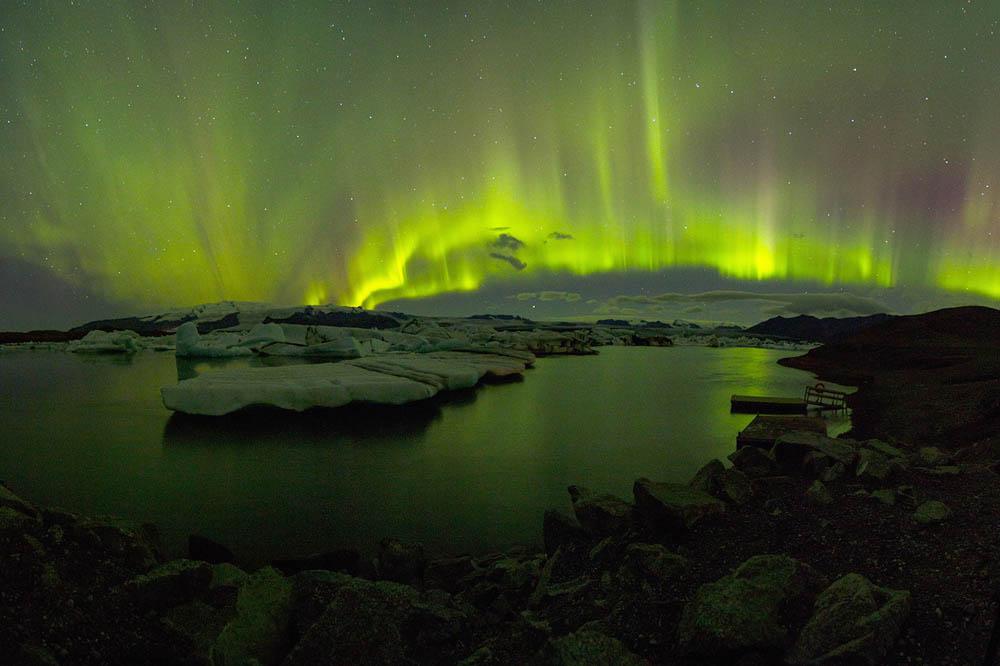 Северное сияние в Исландии.