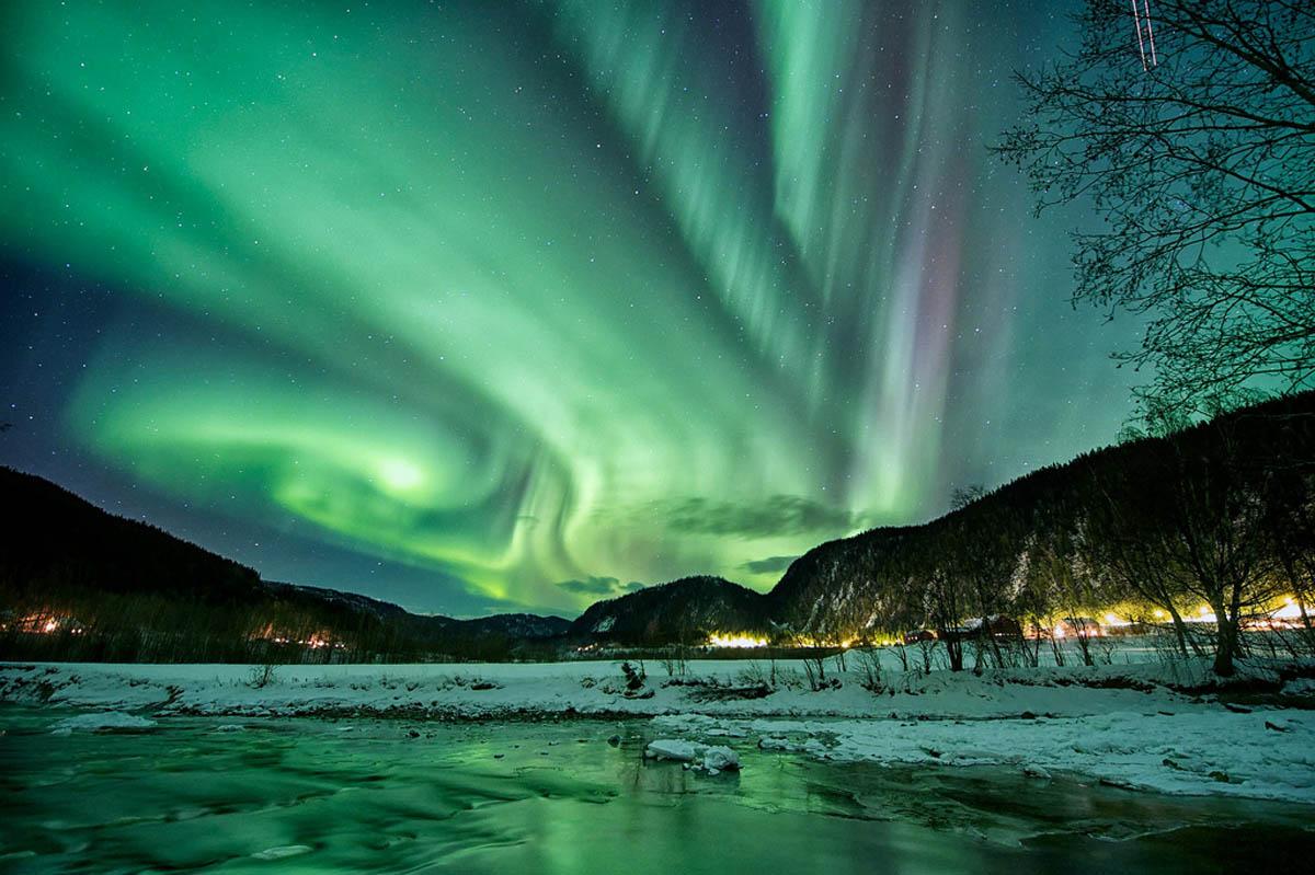 Северное сияние в Норвегии.